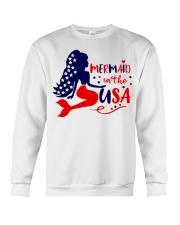 Mermaid in the USA shirt Crewneck Sweatshirt thumbnail