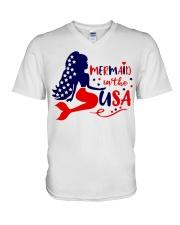 Mermaid in the USA shirt V-Neck T-Shirt thumbnail