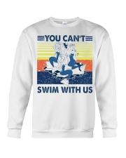 Mermaid you can't swim with us vintage shirt Crewneck Sweatshirt thumbnail