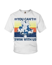 Mermaid you can't swim with us vintage shirt Youth T-Shirt thumbnail