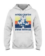Mermaid you can't swim with us vintage shirt Hooded Sweatshirt thumbnail