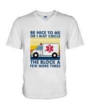 EMT Be nice to me T-shirt V-Neck T-Shirt front