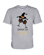Halloween drink up witches shirt V-Neck T-Shirt front