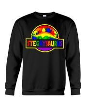 LGBT Stegaysaurus shirt Crewneck Sweatshirt thumbnail