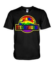 LGBT Stegaysaurus shirt V-Neck T-Shirt thumbnail