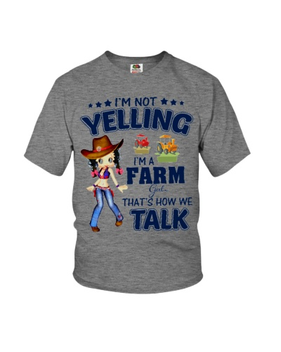 Betty Boop I-m not yelling I-m a farm girl thats