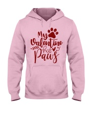 My valentine has paws Hooded Sweatshirt front
