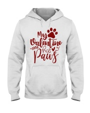 My valentine has paws Hooded Sweatshirt tile