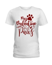 My valentine has paws Ladies T-Shirt thumbnail