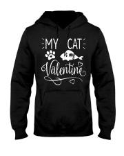 MY CAT IS MY VALENTINE Hooded Sweatshirt tile