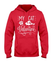MY CAT IS MY VALENTINE Hooded Sweatshirt front