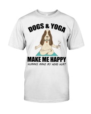 Dogs and yoga make my happy Classic T-Shirt thumbnail