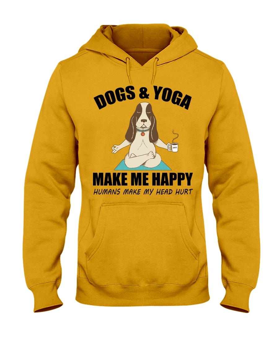 Dogs and yoga make my happy Hooded Sweatshirt