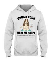 Dogs and yoga make my happy Hooded Sweatshirt tile