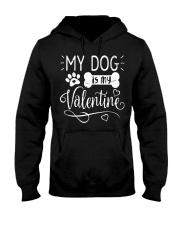 My dog is my valentine Hooded Sweatshirt tile