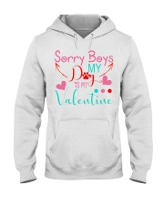 Sorry boys my dog is my valentine Hooded Sweatshirt thumbnail