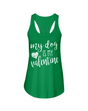 My dog is my valentine Ladies Flowy Tank tile