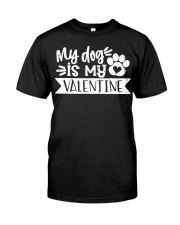 Dog Mom Valentine Classic T-Shirt tile