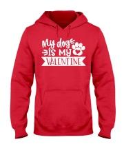 Dog Mom Valentine Hooded Sweatshirt front