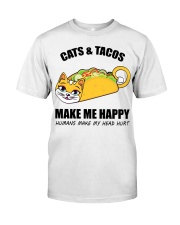 Cats and tacos make me happy Classic T-Shirt thumbnail