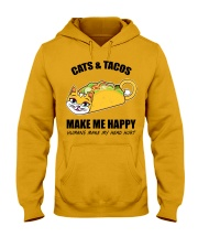 Cats and tacos make me happy Hooded Sweatshirt front