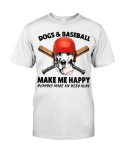 DOGS AND BASEBALL HAPPY Classic T-Shirt thumbnail