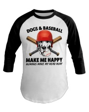 DOGS AND BASEBALL HAPPY Baseball Tee thumbnail