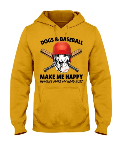 DOGS AND BASEBALL HAPPY