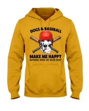 DOGS AND BASEBALL HAPPY Hooded Sweatshirt front