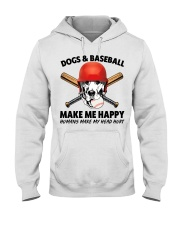 DOGS AND BASEBALL HAPPY Hooded Sweatshirt tile