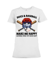 DOGS AND BASEBALL Premium Fit Ladies Tee thumbnail
