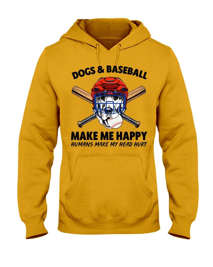 DOGS AND BASEBALL Hooded Sweatshirt