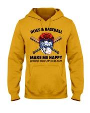 DOGS AND BASEBALL Hooded Sweatshirt front
