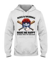 DOGS AND BASEBALL Hooded Sweatshirt tile