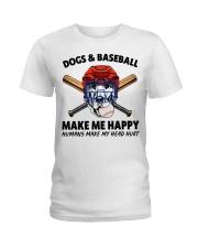 DOGS AND BASEBALL Ladies T-Shirt thumbnail