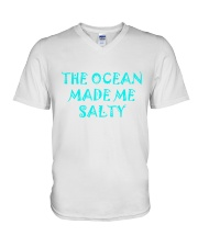 Ocean made me salty V-Neck T-Shirt thumbnail