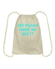 Ocean made me salty Drawstring Bag thumbnail