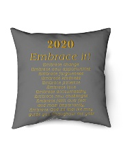 "2020 - Embrace it Indoor Pillow - 16"" x 16"" back"