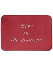 "Live in the Moment Bath Mat - 24"" x 17"" thumbnail"