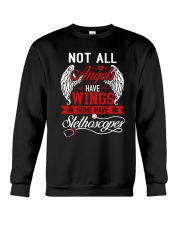 Not All Angels Have Wings Some Have Stethoscopes Crewneck Sweatshirt thumbnail
