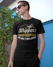 Electrician Working With Stripper Classic T-Shirt apparel-classic-tshirt-lifestyle-17