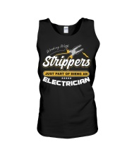 Electrician Working With Stripper Unisex Tank thumbnail