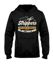 Electrician Working With Stripper Hooded Sweatshirt thumbnail