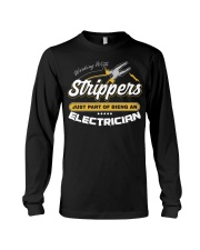 Electrician Working With Stripper Long Sleeve Tee thumbnail