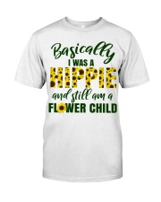 Basically I Was A Hippie And Still Am A Flower Premium Fit Mens Tee thumbnail