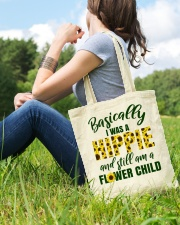 Basically I Was A Hippie And Still Am A Flower Tote Bag lifestyle-totebag-front-6
