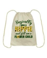 Basically I Was A Hippie And Still Am A Flower Drawstring Bag thumbnail
