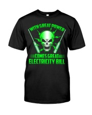 Electrician Power Classic T-Shirt front