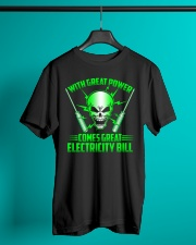 Electrician Power Classic T-Shirt lifestyle-mens-crewneck-front-3