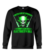 Electrician Power Crewneck Sweatshirt thumbnail